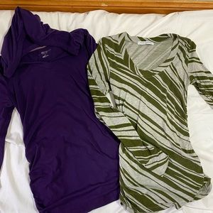 Bundle of two maternity tops XS/S
